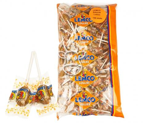 Lemco Salmiak Lollies -150 stuks