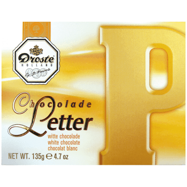 Droste chocolade letter P Wit