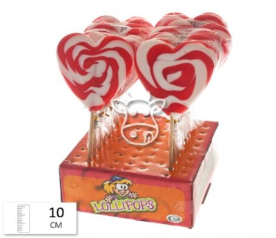 Felko Lolly Heart Spiral Red-White 80 gr.