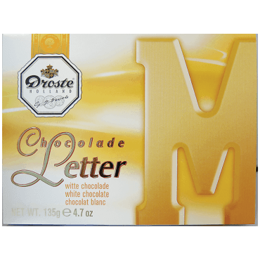 Droste chocolade letter M Wit