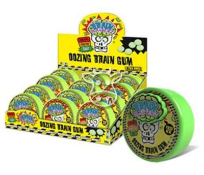 Brain Blasterz Sour Filled Gum Container