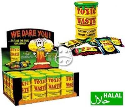 Toxic Waste Yellow Sour Candy Drum 42 gr.