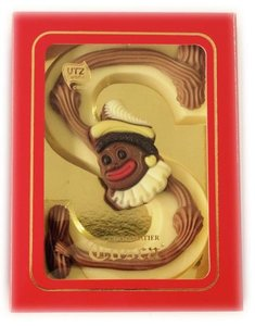 Tosca chocoladeletter opgespoten wit
